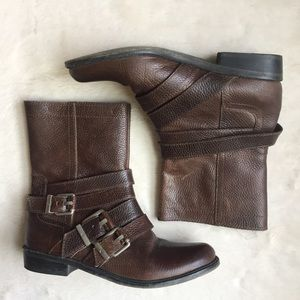7 For All Mankind 'Orly' Brown Buckle Boots